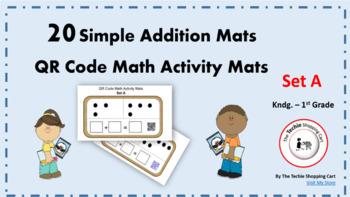 QR Code Simple Addition Activity Mats (Set A)
