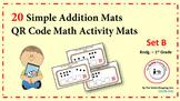 QR Code Simple Addition Activity Mats (Set B)