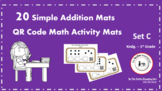 QR Code Simple Addition Activity Mats (Set C)