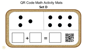 QR Code Simple Addition Activity Mats (Set D)