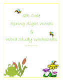 Fun With Words:  QR Code Spring Sight Words & Word Study