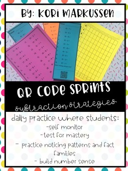 QR Code Sprints - Subtraction