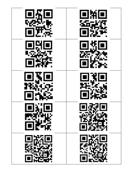 QR Code States and Capitals Task Cards