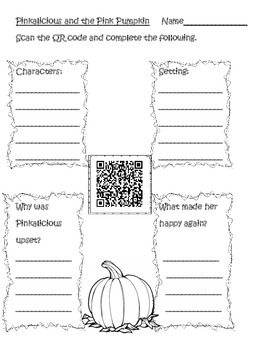 October QR Code Stories for Listening Centers and Common Core Graphic Organizers