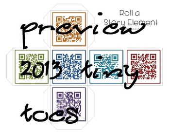 QR Code Story Elements Cube