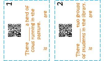 QR Code Subject Verb Agreement STAAR Task Cards