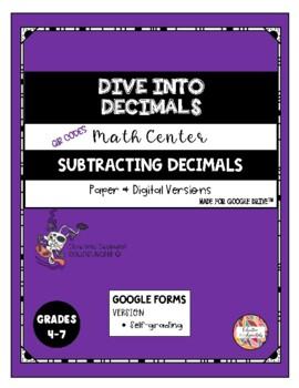QR Code Subtracting Decimals