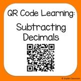QR Code Subtracting Decimals Worksheets