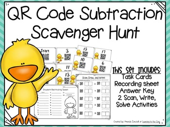 QR Code Subtraction Scavenger Hunt