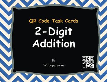 QR Code Task Cards: 2-Digit Addition