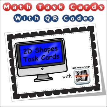 QR Code Task Cards 2D Shapes with Video Demonstration