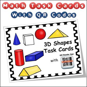 QR Code Task Cards 3D Shapes with Video Demonstration