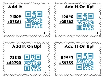 QR Code Task Cards: Add It Up!