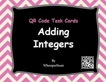 QR Code Task Cards: Adding Integers