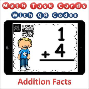 QR Code Task Cards Addition Facts with Video Demonstration