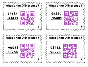 QR Code Task Cards: Addition and Subtraction Bundle