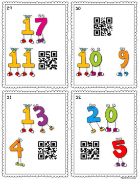 QR Code Task Cards: Addition and Subtraction Fact Families
