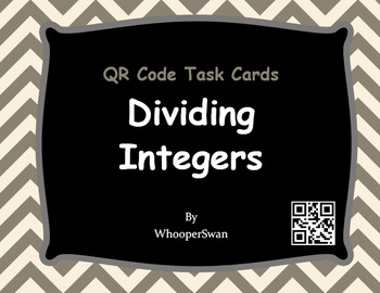 QR Code Task Cards: Dividing Integers