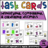 QR Code Task Cards: Doggie Decimals (Identifying, Comparing, Ordering)