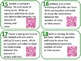QR Code Task Cards Grade 6 Expressions & Equations 2 Common Core Aligned