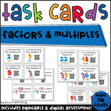 QR Code Task Cards: Factors and Multiples (Common Core Aligned) 4.OA.4
