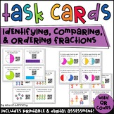 QR Code Task Cards: Fractions: Identifying, Comparing, Ord