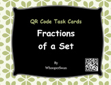 QR Code Task Cards: Fractions of a Set