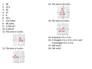 QR Code Task Cards Grade 6 Geometry Common Core Aligned