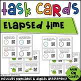 QR Code Task Cards: Hopping Around the Clock (Elapsed Time)