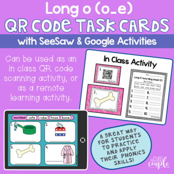 Long O QR Code Task Cards