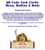 QR Code Task Cards: Mean, Median and Mode