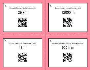 QR Code Task Cards: Metric Length Conversions