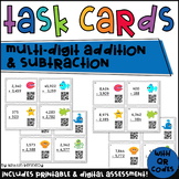 QR Code Task Cards: Multi-digit Addition and Subtraction