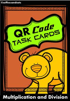 QR Code Task Cards Multiplication/Division