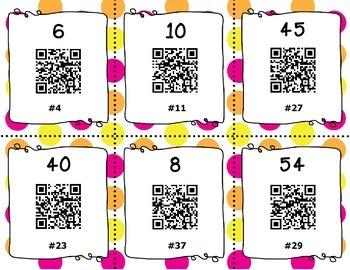 QR Code Task Cards - Multiplication Set 4