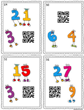 QR Code Task Cards: Multiplication and Division Fact Families