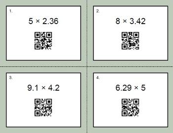 QR Code Task Cards: Multiplying Decimals