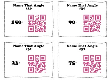 QR Code Task Cards: Name That Angle