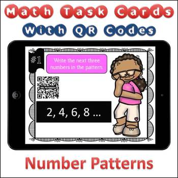 QR Code Task Cards Number Patterns with Video Demonstration