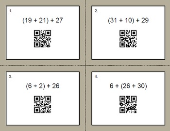 QR Code Task Cards: Order of Operations