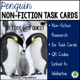 January Centers Penguins QR Codes Non-fiction task cards
