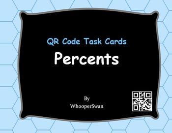 QR Code Task Cards: Percents