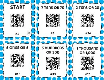 QR Code Task Cards - Place Value