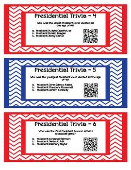 QR Code Task Cards: Presidential Trivia