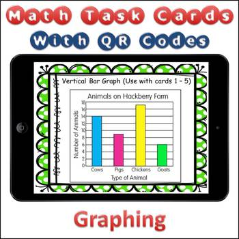 QR Code Task Cards Reading and Problem Solving Graphs with Video Demonstration