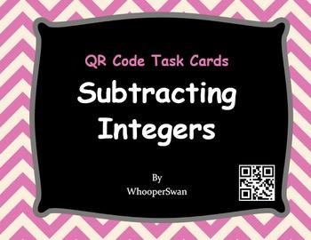 QR Code Task Cards: Subtracting Integers