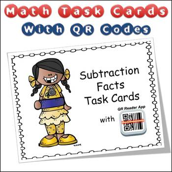 QR Code Task Cards Subtraction Facts with Video Demonstration