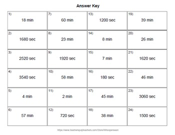 QR Code Task Cards: Time Conversion: Minutes & Seconds