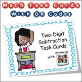 QR Code Task Cards Two Digit Subtraction with Video Demonstration