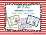 QR Code Task Cards and Board Game:  Fahrenheit & Celsius